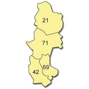 départements 21 - 42 - 69 - 71