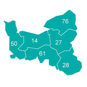 départements 60 - 70 - 95