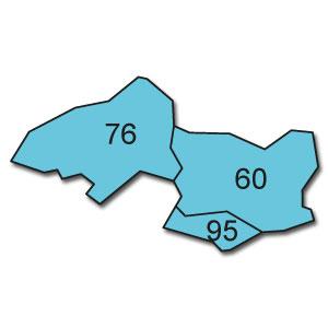 départements 60 - 76 - 95