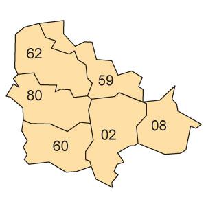 départements 08 - 59 - 62