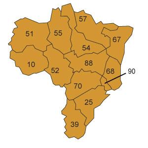 départements 52 - 54 - 55 - 57 - 67 - 68 - 88