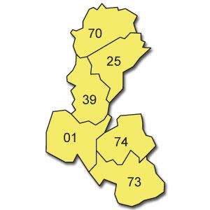 départements 01 - 25 - 39 - 70 - 73 - 74
