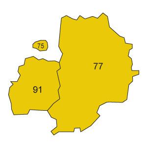 départements 75 - 77 - 91