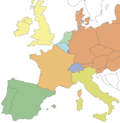 Weser distribution in  Europe