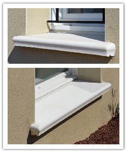 Appuis de fenêtre Accordance - blanc - en pierre reconstituée 2
