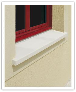 Appuis de fenêtre Tradition - blanc - en pierre reconstituée