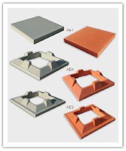 Aspiradores estéticos - Base, anillo, tapa - blanco y rojo - in piedra artificial