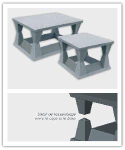 Aspirateur de cheminée - Gris - en pierre reconstituée