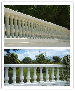 Balaustrada San Sebastiàn 50 - blanco - in piedra artificial