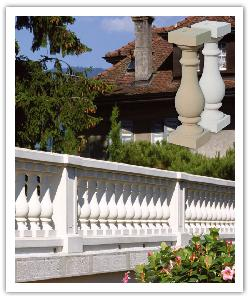 Azay Classic balustrading - off-white - in reconstructed stone