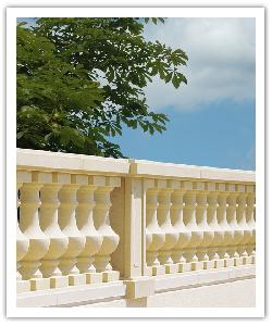 Langeais Classic balustrading - bathstone - in reconstructed stone