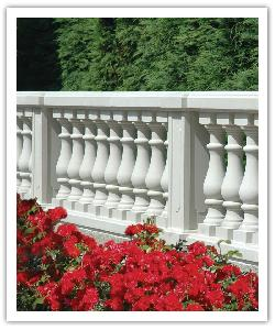 Villandry Classic balustrading - off-white - in reconstructed stone