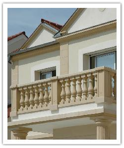 Balustrade Classique Villandry - Ton pierre - en pierre reconstituée 2