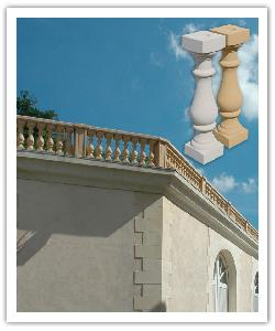 Villandry Classic balustrading - bathstone - in reconstructed stone