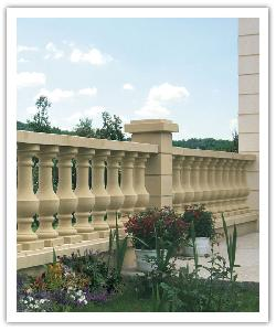 Royan Atlantic balustrades - bathstone - in reconstructed stone