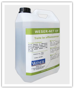 Weser-Net EF cleanig products against efflorescences