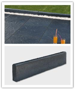 Bordure de jardin Tektite - Noir - en pierre reconstituée 22