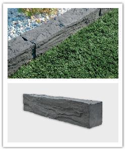 Bordures Auray - gris anthracite - en pierre reconstituée