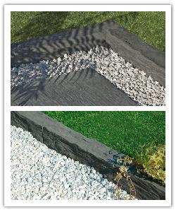 Bordures de jardin Auray - gris anthracite - en pierre reconstituée