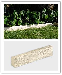 Richelieu garden edging - champagne - in reconstructed stone
