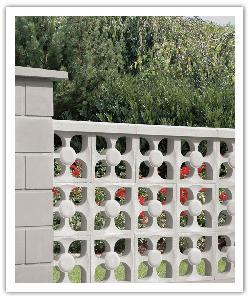 Celosìas relieve Flor - blanco caliza - in piedra artificial