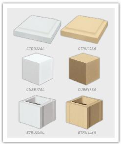 Chapeau de Trumeau 32 - Cube pour escalier - Élément de trumeau 32