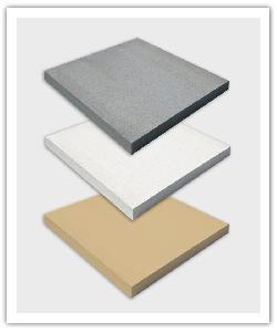 Chapeaux de pilier plat -  Gris, Blanc cassé et Ton pierre - en pierre reconstituée