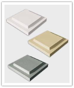 Platte kappen dubbel kroonstuk - zandkleur, gebroken wit, grijs - Namaak Natuursteen