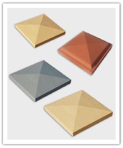 Diamantpunt kappen - zandkleur, gebroken wit, baksteen, grijs  - Namaak Natuursteen