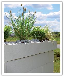 Chaperon de mur végétalisable Optigarden - Blanc cassé