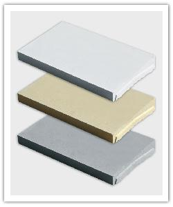 Optipose single weathered interlocking wall copings - off-white, bathstone and grey - in reconstructed stone