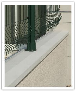 Chaperons de mur à  emboîtement OPTIPOSE Spécial Platine - Blanc cassé - en pierre reconstituée