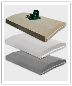 Chaperons de mur à  emboîtement OPTIPOSE® Spécial Platine - Ton pierre, Blanc cassé et Gris - en pierre reconstituée