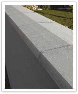 Chaperons de mur Optilite, gris, en pierre reconstituée