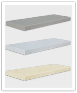 Tradition flat smooth wall copings - grey, white and champagne - in reconstructed stone
