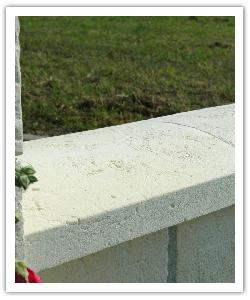 Tradition rounded wall copings - white - in reconstructed stone