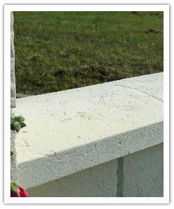 Chaperons de murs, couvre-mur, Tradition arrondis - Blanc Tradition - en pierre reconstituée