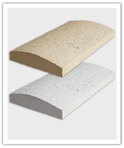 Chaperons de murs, couvre-mur, Tradition arrondis - Crème et Blanc Tradition - en pierre reconstituée