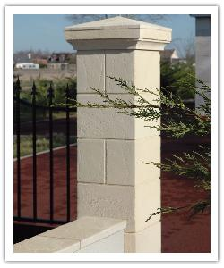 Tradition flat wall copings - champagne - in reconstructed stone