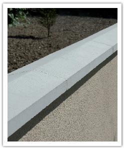 Cubremuros Dos Vertientes CM2 - blanco - in piedra artificial