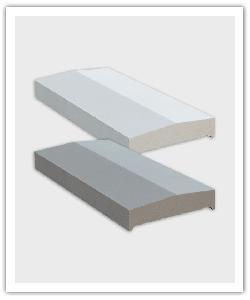 Cubremuros Dos Vertientes CM2 - gris y blanco - in piedra artificial