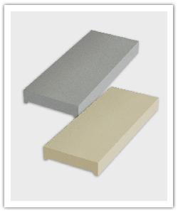 Cubremuros Plano - gris y beige - in piedra artificial