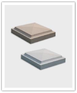 Cubrepilar punta diamante CP4/36  - blanco, beige, briquetta y gris - in piedra artificial