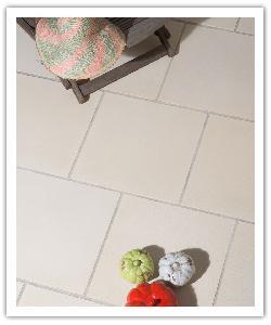 Dallage Coton Crème - Aspect tissu - en pierre reconstituée Weser
