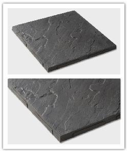Dalle Corrèze, aspect ardoise - Noir traité - détail ergot