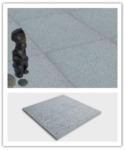 Etnik leather-effect paving - natural grey - in reconstructed stone