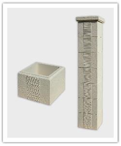 élément de pilier et pilier complet Camargue - champagne - en pierre reconstituée