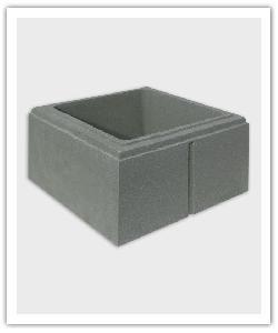 élément de pilier lisse Eco - gris - en pierre reconstituée