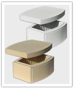 Pilaar element Ovalis - Zandkleur en Gebroken wit - Namaak Natuursteen