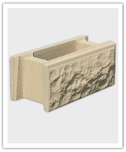 Split finish wall block  - bathstone - in reconstructed stone